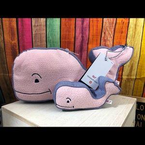 LE Vineyard Vines Target Baby Whale Pillow Rattle